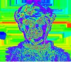 Виброизображение иаура человека